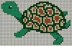 Turtle hama perler beads