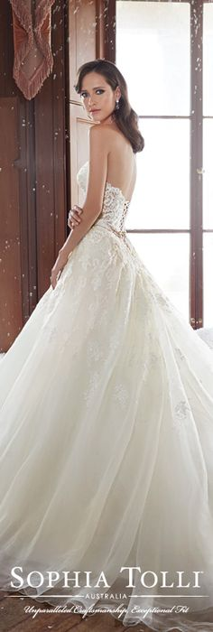 The Sophia Tolli Fall 2015 Wedding Dress Collection - Style No. Y21503 www.sophiatolli.com #weddingdresses #weddinggowns