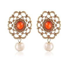 Orange & Gold Earings Online Shopping Of Jewellery ,Indian Dresses