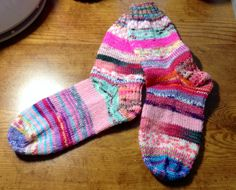 """Just finished my Pink """"Kathi's Krazy Socks"""" for one of my charity groups on Ravelry!"""