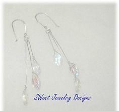 Handmade Leaf Drop Sterling Silver Earrings by SwestJewelryDesigns, $20.00