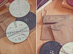 Ross Clodfelter: Coaster Wedding Invitations