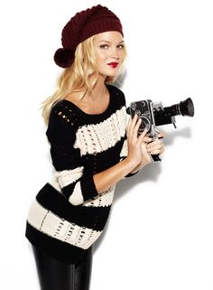 i'm not sure if it's a vs sweater or not, but it is way cute and i would totally rock that thing :)