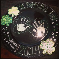 St.Patricks day plate charger!