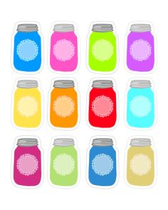 Who doesn't love Mason Jars?  Really…they are every where you look!  Creative crafters are tinting them in a rainbow of colors so they fit in perfectly with every decor. So today here at The Cottage Market…we have a little treat for you in celebration of our blog moving to wordpress …A Colorful Mason Jar Tag …