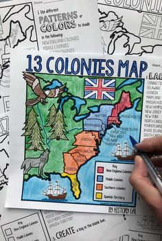 13 Colonies Map and Quiz - Help your middle or high school students master American History with this quiz. You get map options, PowerPoint, and quiz to help your and grade classroom or homeschool students master this US History conce 4th Grade Social Studies, Social Studies Worksheets, Social Studies Classroom, Social Studies Activities, History Activities, History Classroom, Teaching Social Studies, Teaching History, History Education