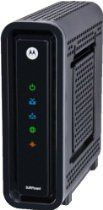 Motorola SB6121 SURFboard DOCSIS 3.0 Cable Modem From Motorola - Building upon the success of the SB6120, Motorola's SURFboard SB6121 delivers your complete personal media experience, at lightning-fast broadband speed. It harnesses the power of DOCSIS 3.0 technology to bond up to four downstream channels and four upstream channels--providing you advanced multimedia services with data rates of more than 100 Mbps in each direction. That makes gaming, shopping, downloading, working…