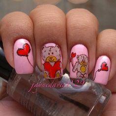 Tattered Teddy Bear Nails