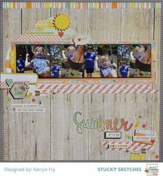 Stuck?! Sketches June 15 2016 challenge DT layout by Kerryn