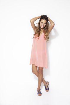 Zinke Lulu Dress- Coral