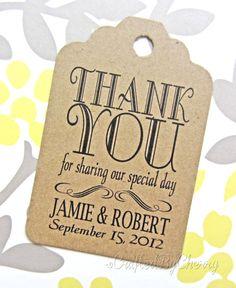 Custom+Thank+You+Wedding+Favor+Tags++Kraft+by+CraftedByCherry,+$20.00