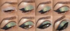 #Shimmering Olive Gold #Evening #Makeup #Tutorial #Glam #Express <3 Join our online #beauty #community : http://www.glam-express.com/