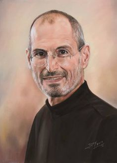 "Saatchi Art Artist TEODOR BOZHINOV; Drawing, ""Portrait of Steve Jobs"" #art"