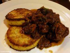 Beef and polenta dish