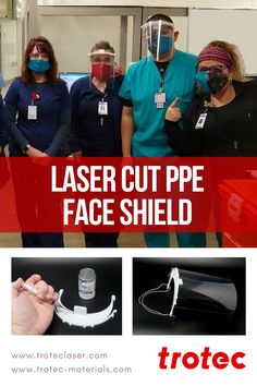 Laser Processing Protective Face Shields l Trotec Laser Trotec Laser, Laser Machine, Medical, Face, Inspiration, Sun Visor Hat, Biblical Inspiration, Faces, Medicine
