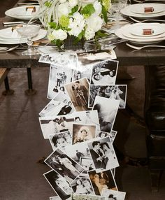 Picture Table Runners by LaminatedMemories on Etsy, $50.00