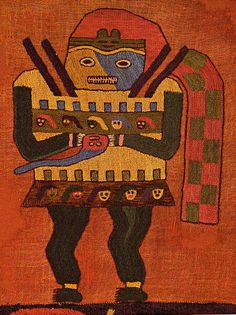 Diseño textil en el manto paracas