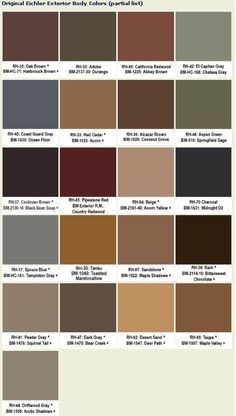 rust and brown color schemes - google search | school stuff