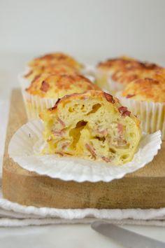 Muffins de tocino y queso - Cooking Ideas - Donut Muffins, Protein Muffins, Zucchini Muffins, Cranberry Muffins, Muffins Blueberry, Morning Glory Muffins, Nutella Muffin, Empanadas, Tapas