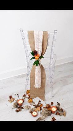 Rustic hessian and lace