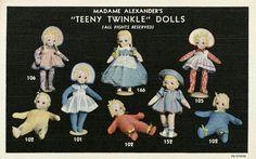 """""""teeny twinkle"""" dolls, 1936"""