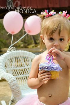 2nd birthday pictures. Balloons, cupcakes, 2 but a boy of course
