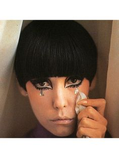 "Margaret Anne ""Peggy"" Moffitt is a former American model and actress. During the she was muse for fashion designer Rudi Gernreich, and developed a signature style that featured heavy, Kabuki-like makeup and an asymmetrical hair cut: Makeup Inspo, Makeup Inspiration, Beauty Makeup, Eye Makeup, Hair Makeup, Hair Beauty, Makeup Style, Drag Makeup, Runway Makeup"