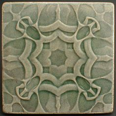 Decorative ceramic wall tile 6 x 6 by CampbellTileworks on Etsy, $17.00