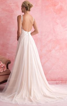 Queeniewedding.co.uk:Cheap Long Luxury Vintage Wedding Dress HSNCA0098