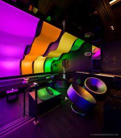 W Hotel Montreal – Wunderbar, Futuristic Interior Design, Colorful, Neon, futuristic furniture