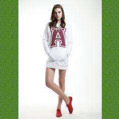 AMERICAN VARSITY A Hoodie Dress - Made in U.S.A official - http://american-varsity.com/shop - http://www.avarsityshop.com/