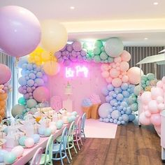 Balloon themed Birthday Parties Inspirational What A Fun Pastel Ice Cream Party Balloons Showerideas Unicorn Birthday Parties, Baby Birthday, Birthday Party Themes, Birthday Balloon Decorations, Birthday Balloons, Ballons Pastel, Pastell Party, Partys, Instagram