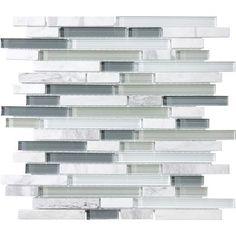 Anatolia - Venatino Glass/Stone Strip Mosaics - Home Depot Canada. ($9.99/sqft)