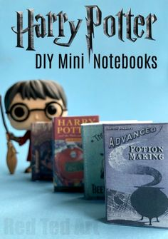 DIY Harry Potter Mini Books - adorable little Mini Notebook DIY for Harry Potter fan. Complete with free Harry Potter Book Cover Printables, these are super cute DIY Notebooks to make for all Harry Potter fans!
