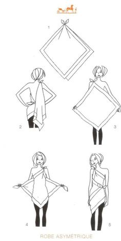 How to tie a scarf - Hermes knotting cards - DRESS