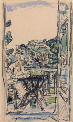 Edouard Vuillard, La Jeune femme sur sa terrasse