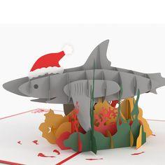 Shark Tank Pop Up Christmas Card