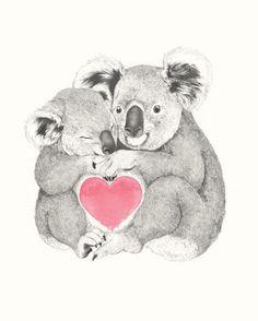 1000drawings - Koalas love hugs by Laura Graves