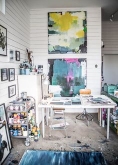 This is the home and studio of artist Lisa Burenius, in Varberg, Sweden. From Lovely Life, via My Scandinavian Home.
