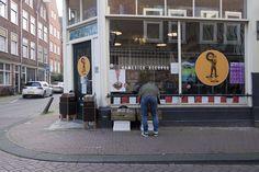 Homesick Records, Amsterdam. That's me digging. (Photo: Eva Kristine Klemsdal HenrikseN)