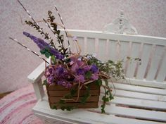 Dollhouse Miniatures flowers in a crate by kathiecrisan on Etsy, $24.95