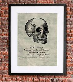 Hamlet Shakespeare Art  Literary Poster  Instant by pennyPRINTABLE