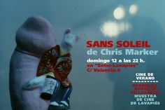 "Proyeccion de ""Sans Soleil"" en #solarpies. Cartel de Asamblea Popular de Lavapies"