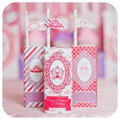 Princess Princess Party Juice Box Wrappers Princess Birthday