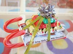Candy sleigh...adorable & fun craft for Nina to make for her friends for Christmas!