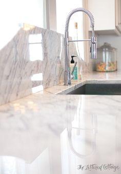 Marble Counter Backsplash | Countertop | Ashley Gilbreath | Montgomery Alabama