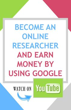 Become An Online Researcher and Earn Money by Using Google - Watch on #YouTube! youtube.com/c/dhbwfans