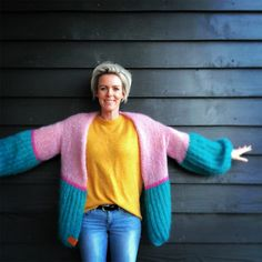 This is a unique handmade luxury pink-green mohair cardigan. This beautiful cardigan is made of a high quality mohair and does not pill. Crochet Cardigan, Wool Cardigan, Knit Crochet, Best Cardigans, Mohair Yarn, Knitting Videos, Baby Knitting, Knitwear, Cool Outfits