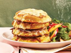 Cheese and Apple Crumpet French Toast