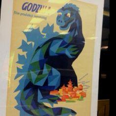 A vintage Gojira poster